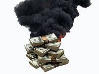 banconote in fumo