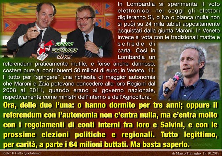 Photo of Autonomi dalla verità  Editoriale di Marco Travaglio da Il Fatto Quotidiano  19 …