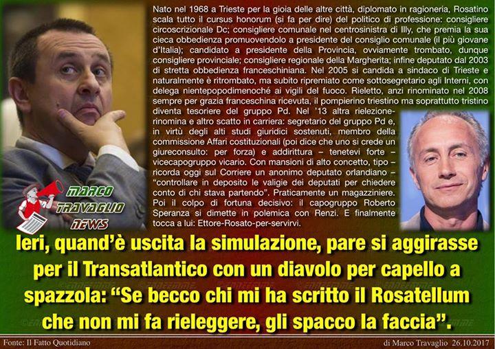 Photo of Il Risatellum  Editoriale di Marco Travaglio da Il Fatto Quotidiano  26 ottobre …