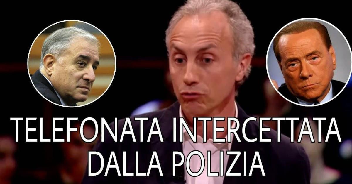 Photo of + Clamorosa intercettazione + Telefonata Berlusconi Dell'Utri intercettata dalla Polizia con commento di Marco Travaglio. Guardate e diffondete tutti…