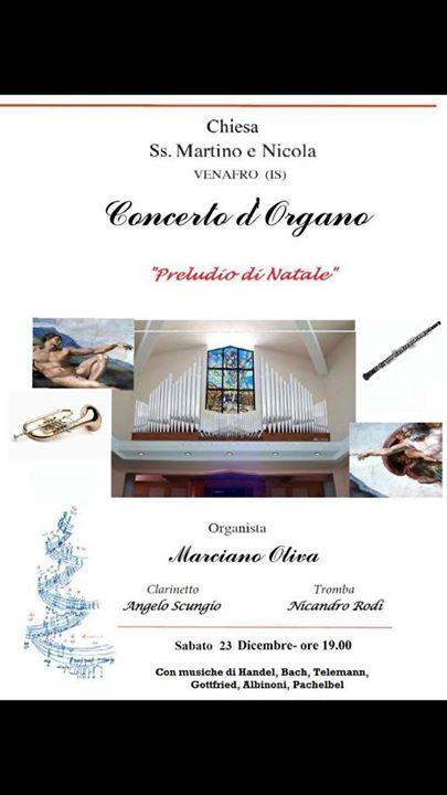 """Photo of Concerto d'organo """"Preludio di Natale"""" Organista Marciano Oliva – clarinetto Ang…"""