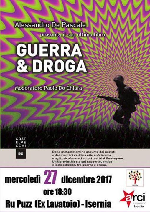 Photo of Presentazione del libro 'Guerra e droga'  'Guerra & droga': sarà presentato oggi…