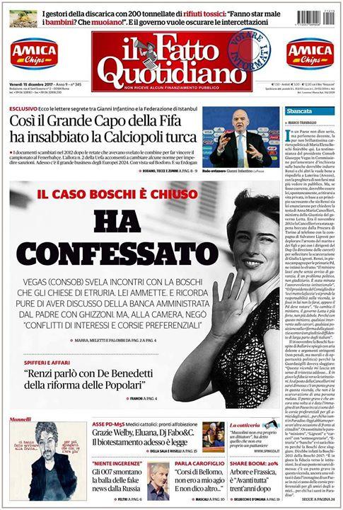 Photo of – Sbancata – editoriale di Marco Travaglio da Il Fatto Quotidiano del 15 Dicembr…