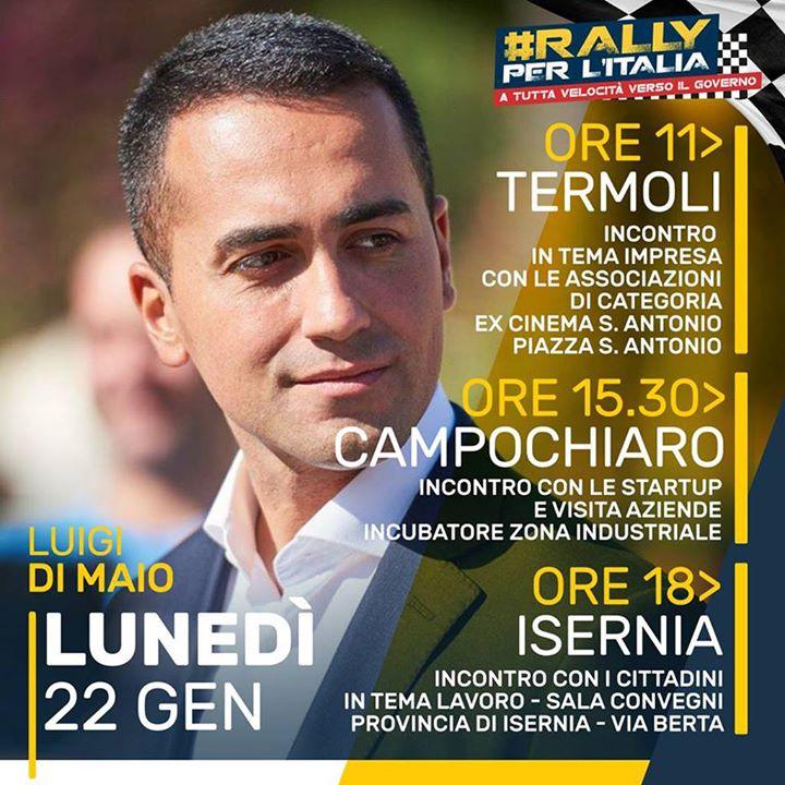 Photo of Politiche, il leader pentastellato Di Maio fa tappa in Molise