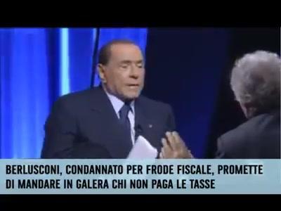 """Photo of """"Se non dovessero pagare… vanno in galera"""" Berlusconi manda in galera gli evasor…"""