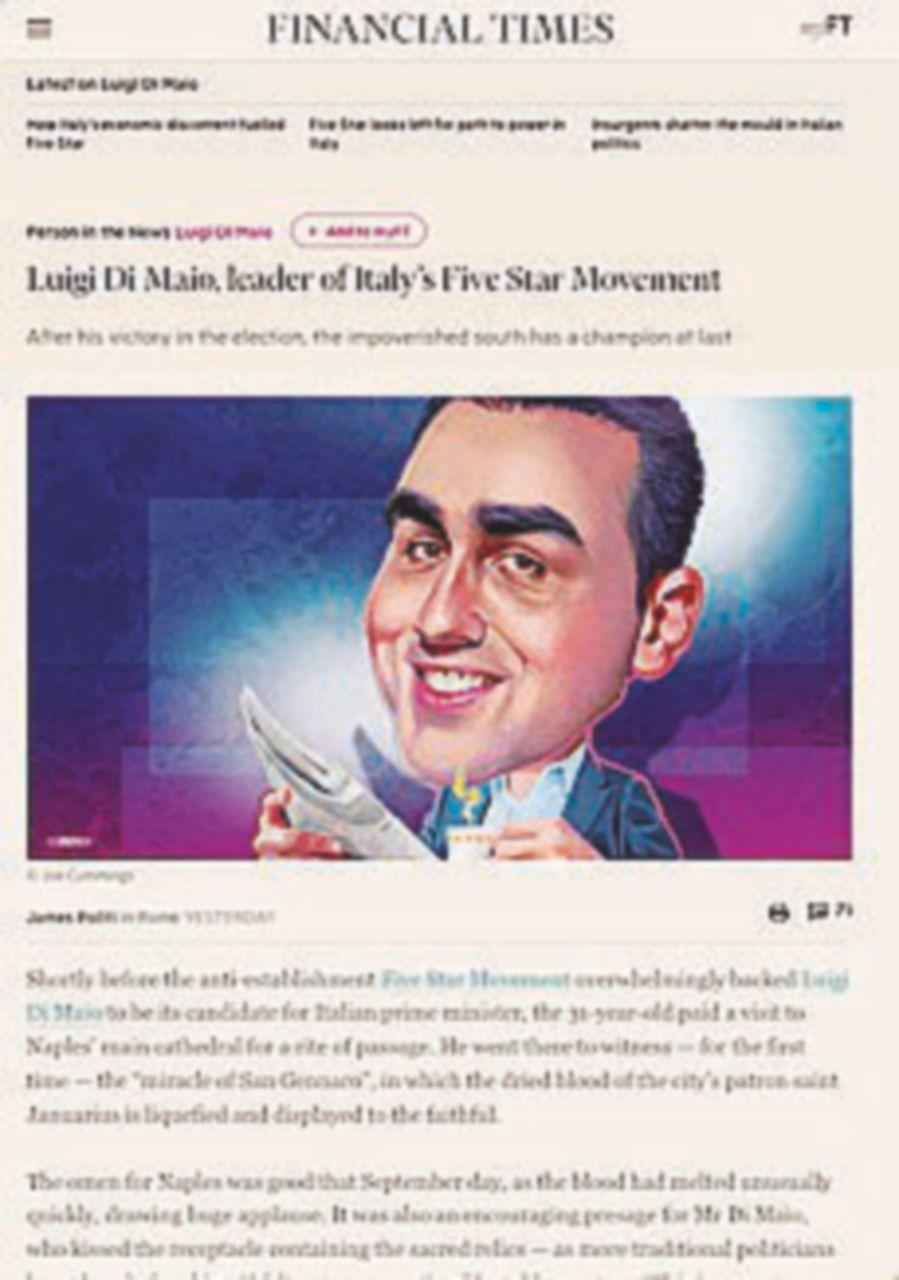 """Photo of Il Financial Times punta su Di Maio: """"È un moderato"""""""