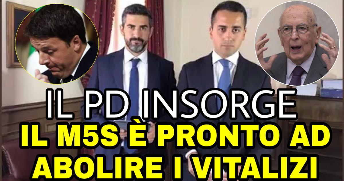 Photo of ULTIMA ORA: IL M5S SI PREPARA AD ABOLIRE I VITALIZI! IL PD INSORGE! CONDIVIDETE
